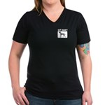 Merle Great Dane Women's V-Neck Dark T-Shirt