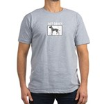 Merle Great Dane Men's Fitted T-Shirt (dark)