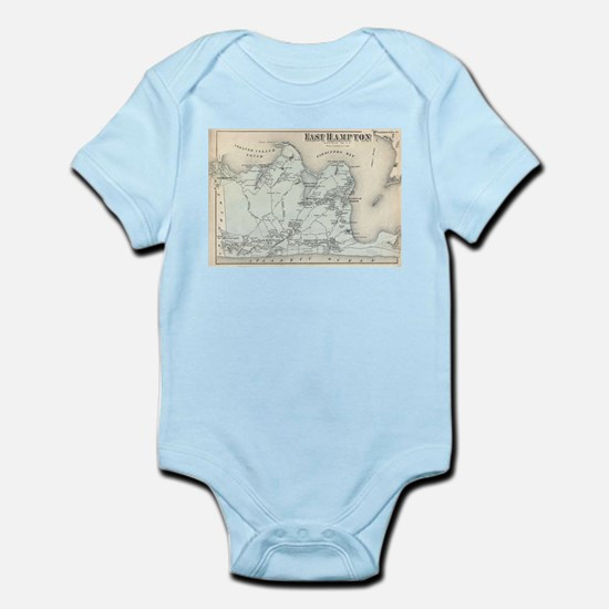 Vintage Map of East Hampton New York (18 Body Suit