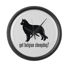 Belgian Sheepdog Large Wall Clock