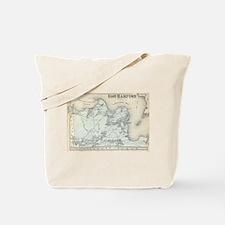 Vintage Map of East Hampton New York (187 Tote Bag