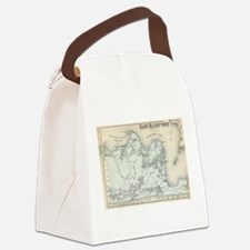 Vintage Map of East Hampton New Y Canvas Lunch Bag