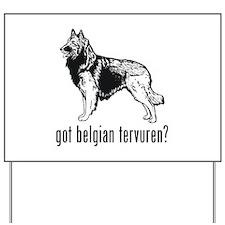 Belgian Tervuren Yard Sign