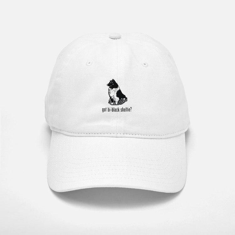 Bi-Black Sheltie Baseball Baseball Cap