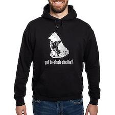 Bi-Black Sheltie Hoodie