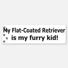 Flat-Coated Retriever Furry Kid Bumper Bumper Bumper Sticker
