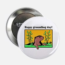 Happy groundhog day! Button