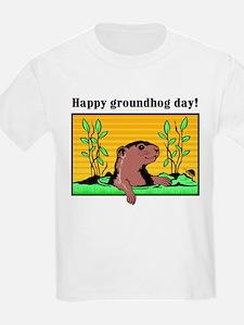 Happy groundhog day!  Kids T-Shirt