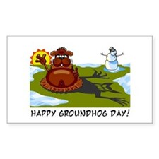 Groundhog Day Rectangle Decal