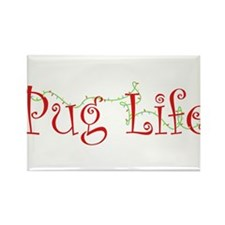 Holiday Pug Life Rectangle Magnet