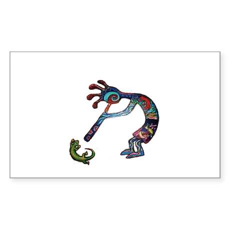 Kokopelli Sticker (Rectangle)
