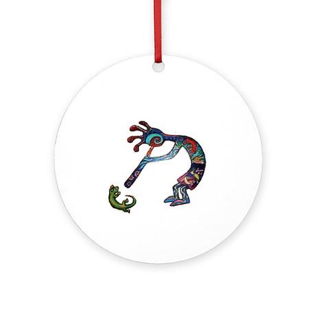 Kokopelli Ornament (Round)