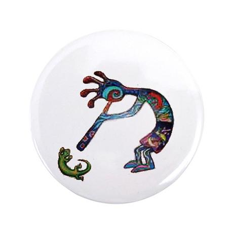 """Kokopelli 3.5"""" Button (100 pack)"""