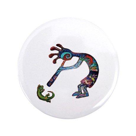 "Kokopelli 3.5"" Button"
