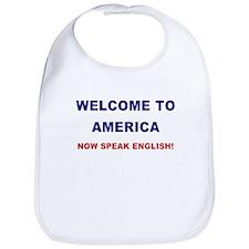 Speak English Bib