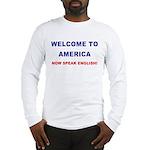 Speak English Long Sleeve T-Shirt (blue/red)