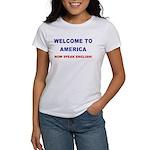 Speak English Women's T-Shirt (blue/red)