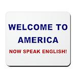 Speak English Mousepad (blue/red)