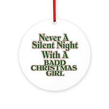 Silent Night Ornament (Round)