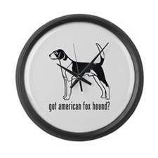 American Fox Hound Large Wall Clock