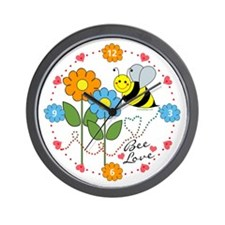 Bee Love Wall Clock