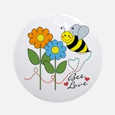 Bee Love Ornament (Round)