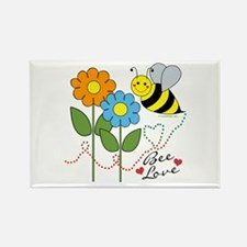 Bee Love Rectangle Magnet