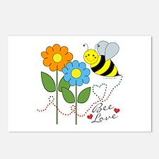 Bee Love Postcards (Package of 8)