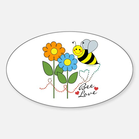Bee Love Sticker (Oval)