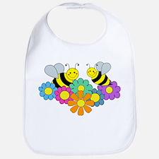 Bees & Flowers Bib