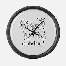 Otterhound Large Wall Clock