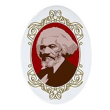 Portrait of Frederick Douglas Oval Ornament