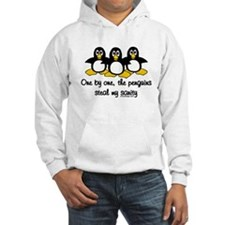 One by one, the penguins.. Hoodie