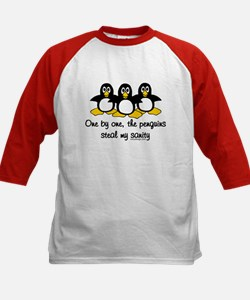One by one, the penguins.. Tee