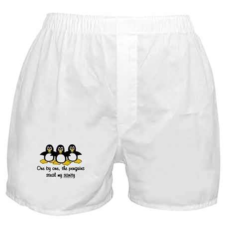 One by one, the penguins.. Boxer Shorts
