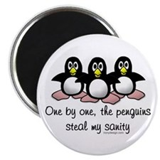 One by one, the penguins.. Magnet