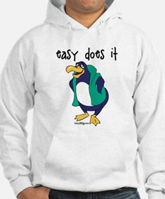 Easy Does It Penguin Hoodie Sweatshirt