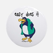 Easy Does It Penguin Ornament (Round)