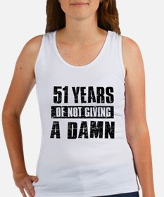 51 years of not giving a damn Women's Tank Top