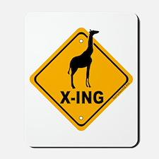 Giraffe X-ing Mousepad