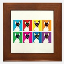 Pepper the Toy Fox Terrier Framed Tile