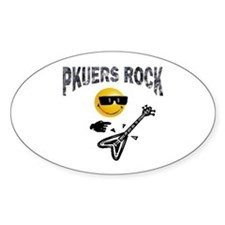 PKUERS ROCK Gifts Oval Decal