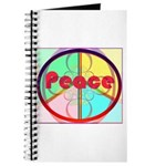 Abstract Peace Sign Journal