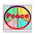 Abstract Peace Sign Tile Coaster
