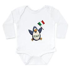 Italy Penguin Long Sleeve Infant Bodysuit