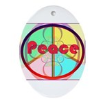 Abstract Peace Sign Ornament (Oval)
