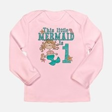 Mermaid First Birthday Long Sleeve Infant T-Shirt