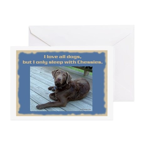 Sleep with Chessies Greeting Cards (Pk of 10)