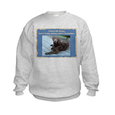 Sleep with Chessies Kids Sweatshirt