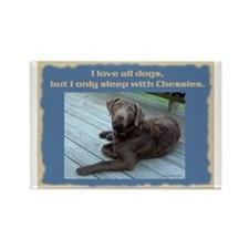 Sleep with Chessies Rectangle Magnet